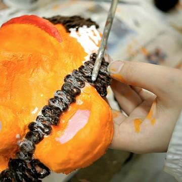Otroške delavnice, izdelovanje maske